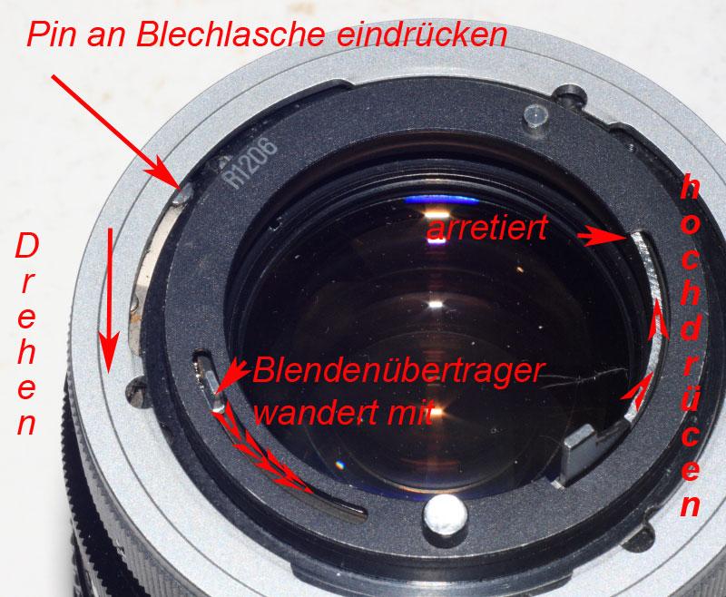 Canon FD Chromring/Breechlock und nFD - Blendenfunktion überprüfen