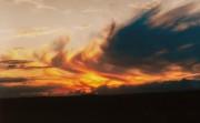 flammende Wolken
