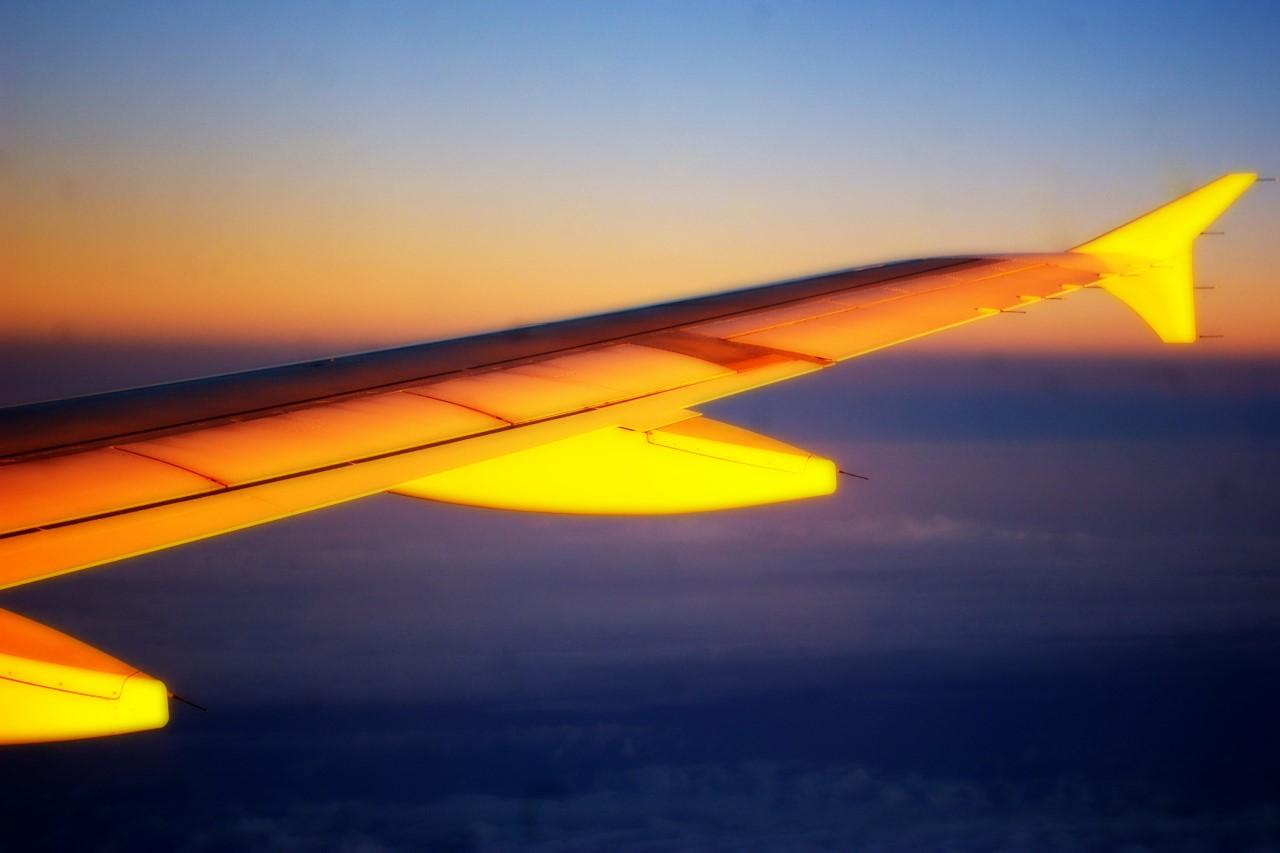Nachtflug nach Hause...