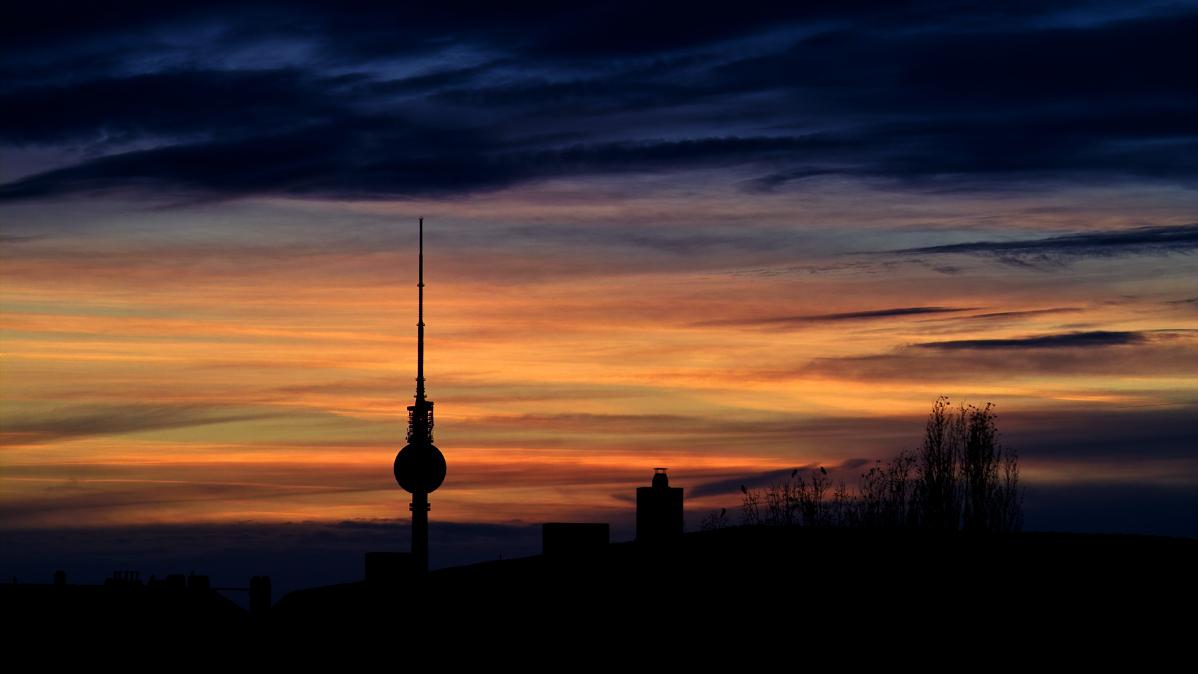 Fernsehturm Berlin im November