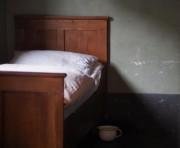Bett eines Müllers um 1900