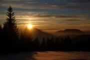 Wintersonnenuntergang im Mostviertel von Hias