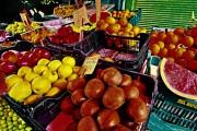Marktstand-Obst-Diachrome