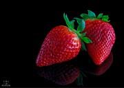 Erdbeeren auf Acryl
