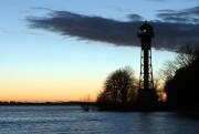 Abendstimmung an der Elbe ...