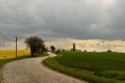 Die Straße Richtung Unwetter