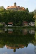 Sch�nfels mit Burg Sch�nfels Hochformat von BiNo