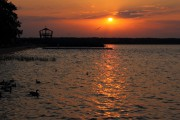 Sonnenuntergang am Stettiner Haff