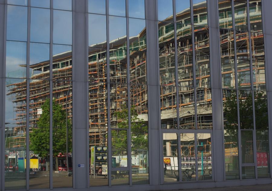 Chinesen bauen ein Hotel in Frankfurt