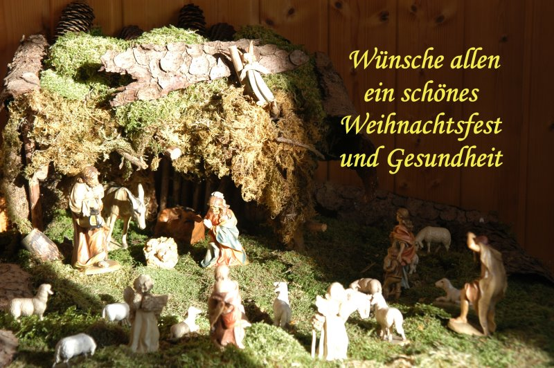 Wünsche schönes Weihnachtsfest