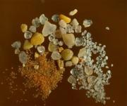Sand aus drei Kontinenten