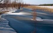 Winterhochwasser am Campingplatz