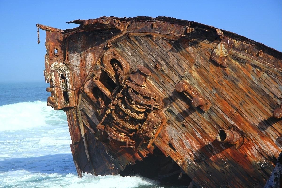 Schiffswracks im Diamantensperrgebiet